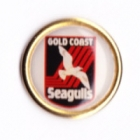 1994 Gold Coast Seagulls ARL Logo Perfection Pin Badge