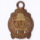 1983 Wests Old Boys & Junior Leagues Club $50 Member Badge