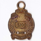 1983 Wests Old Boys & Junior Leagues Club $100 Member Badge