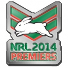 2014 South Sydney Rabbitohs NRL Premiers LE Pin Badge