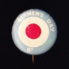 Airmens Day Button Badge 22mm 6d