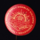 Disabled Soldiers Button Badge 33mm