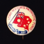 Lord Mayors Button Badge 22mm 6d