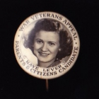 War Veterans Button Badge 22mm