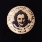War Veterans Button Badge 22mm 1s