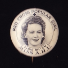 Red Cross Button Badge 25mm
