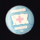 Red Cross Button Badge 25mm 1s