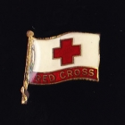 Red Cross Clasp Pin $1