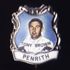 1967 Penrith Panthers NSWRL Captain Tony Brown Daily Mirror Pin Badge