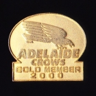2000 Adelaide Crows AFL Gold Member Pin Badge