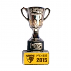 2015 Hawthorn Hawks AFL Premiers Cup Pin Badge