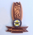 2015 North Queensland Cowboys NRL Premiers Trophy Pin Badge