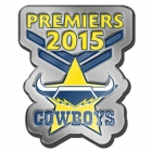 2015 North Queensland Cowboys NRL Premiers LE Pin Badge