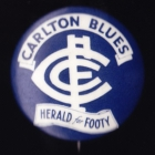 1962 Carlton Blues VFL Herald for Footy Button Badge
