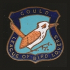 1938 Gould League of Bird Lovers Victoria Kookaburra Badge Pin LWNa