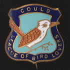 1938 Gould League of Bird Lovers Victoria Kookaburra Badge Pin LWNb