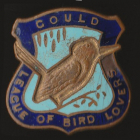 1938 Gould League of Bird Lovers Victoria Kookaburra Badge Pin LGNa
