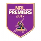 2017 Melbourne Storm NRL Premiers Trofe Logo Pin Badge