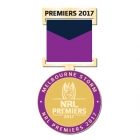 2017 Melbourne Storm NRL Premiers Trofe Medal Pin Badge