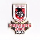 2010 St George Illawarra Dragons NRL Premiers Pin Badge