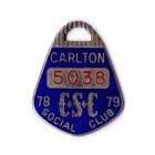 1978-79 Carlton Blues VFL Member Badge