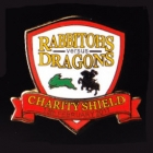 2011 NRL Charity Shield Rabbitohs v Dragons Pin Badge d1