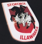 2010 St George Illawarra Dragons NRL Sticker