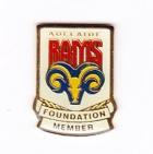1997 Adelaide Rams ARL Foundation Member Pin Badge