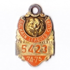 1974-75 Balmain Leagues Club Member Badge