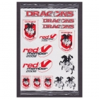 2008 St George Illawarra Dragons NRL Member Stickers