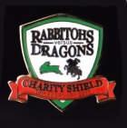 2011 NRL Charity Shield Rabbitohs v Dragons Pin Badge r2
