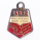 1980-81 Manly Warringah Leagues Club Member Badge