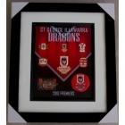 2010 St George Illawarra Dragons NRL Premiers Framed Pin Badge Set