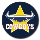2009 North Queensland Cowboys NRL Logo SS Button Badge