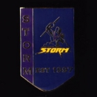 2011 Melbourne Storm NRL Year Established Away Pin Badge
