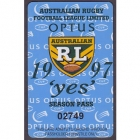 1997 ARL Season Pass No 2749