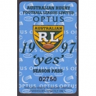 1997 ARL Season Pass No 2750