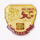 1996 ARL Broncos v Sea Eagles Streets Pin Badge