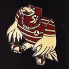 1984 Manly Warringah Sea Eagles NSWRL Mascot Perfection Pin Badge