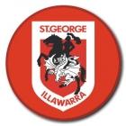 2009 St George Illawarra Dragons NRL Logo SS Button Badge