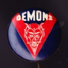 1960s Melbourne Demons VFL Small Button Badge