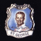 1967 St George Dragons NSWRL Captain Johnny Raper Daily Mirror Pin Badge
