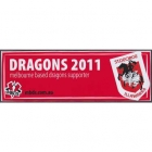 2011 St George Illawarra NRL Melbourne Based Dragons Sticker
