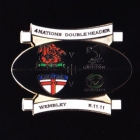 2011 RL Four Nations Double Header Pin Badge n