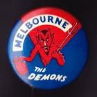 1960s Melbourne Demons VFL The Demons Button Badge