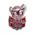 2011 Manly Warringah Sea Eagles NRL Premiers Pin Badge