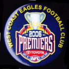 2006 West Coast Eagles AFL Premiers SS Button Badge