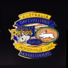 2008 Australia Day Challenge Rabbitohs v Leeds Pin Badge bs2