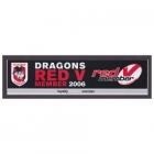 2006 St George Illawarra Dragons NRL Member Sticker