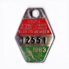 1983 South Sydney Juniors Leagues Club Member Badge